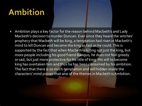 macbeth themes of ambition themes in macbeth