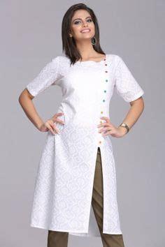 kurta pattern with net stylish white kurtis google search shirts pinterest