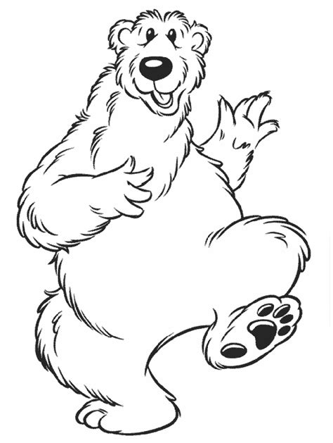 bear in the big blue house coloring pages