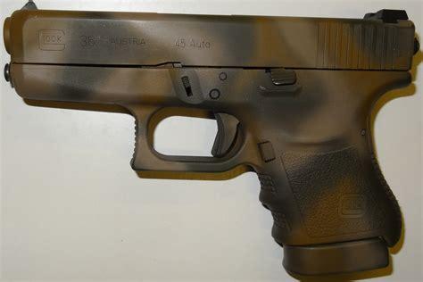Lackieren Pistole by Pistole Glock 36 Gen3 Im Kaliber 45acp Tarnfleck Lackiert