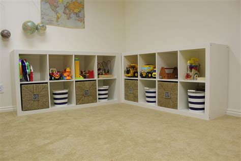 beautiful playroom update toy storage