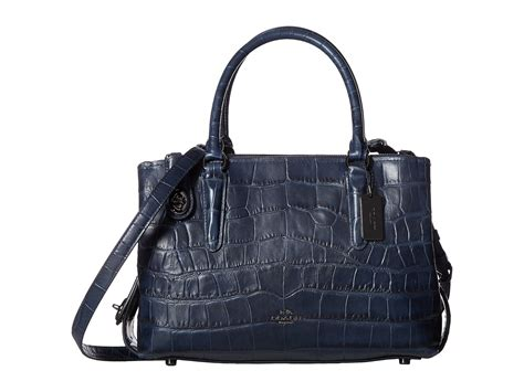 Coach Emboss coach embossed croc 28 carryall at zappos