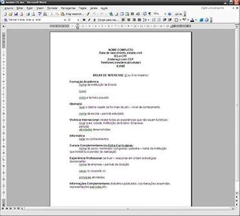 Modelo De Curriculum Vitae Para Completar Em Portugues Modelo De Curr 237 Culo Pronto Exemplos Gr 225 Tis 4 Novo Post