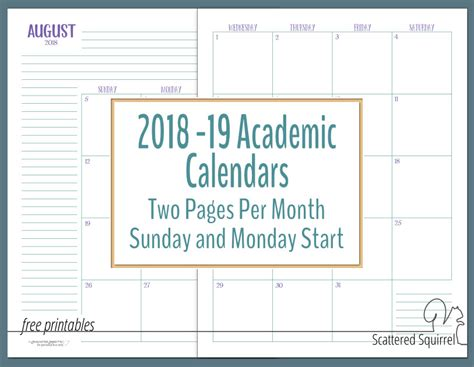 dated calendars scattered squirrel