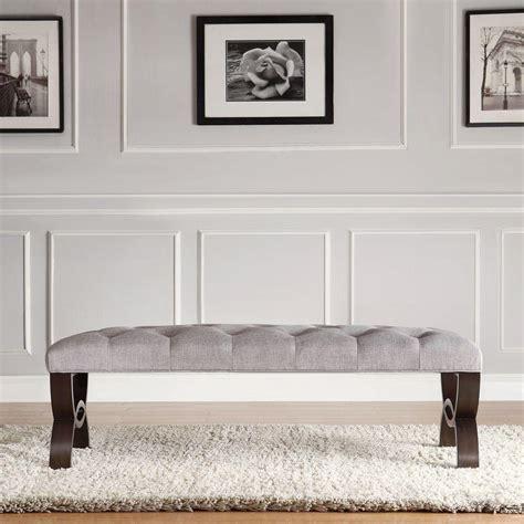 grey bedroom bench homesullivan columbia grey bench 40e348c240w the home depot