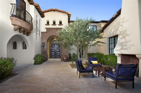 santa barbara style home design mediterranean patio