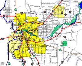 map of sacramento california and surrounding cities sacramento california map