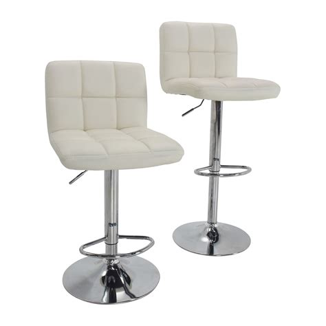 Furniture White Bar Stools by 51 Roundhill Furniture Roundhill Furniture White