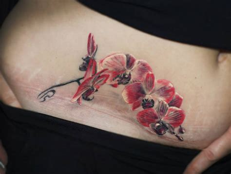 tattoo belly designs pretty orchid belly best design ideas