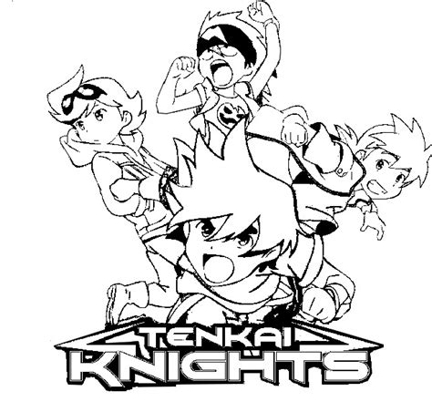 Tenkai Knight Coloring Page | kleurplaat tenkai knights tenkai knights 6