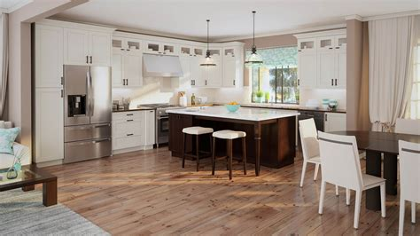Kitchens By Us by Shaker Antique White Lifedesign Home