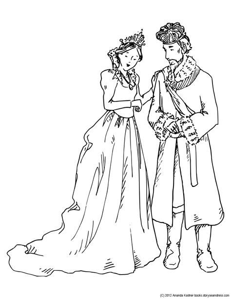 coloring page princess and the pea february 2012 blog amanda kastner illustration