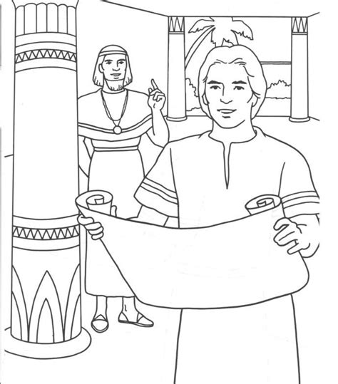 coloring sheets for joseph joseph and potiphar bible coloring pages joseph potiphar