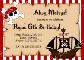 custom pirate birthday invitation by feelslikeaparty on etsy