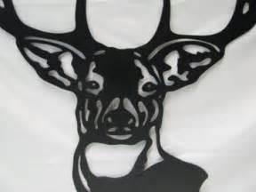 Tall Window Curtains Deer Head 004 Metal Wildlife Wall Yard Art Outdoor Hunting