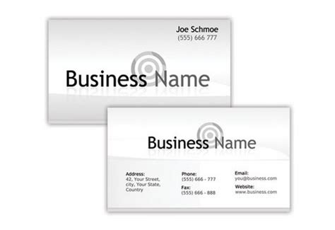 white business card template psd 44 free clean and simple white business card template in
