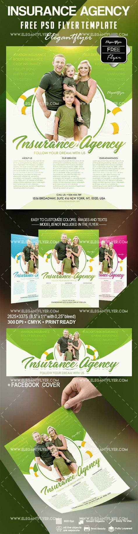 Free Insurance Agency Flyer Template By Elegantflyer Insurance Flyer Templates