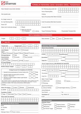 pembukaan rekening bca online formulir pembukaan rekening bank bni fill online