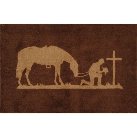 Western Bathroom Rugs Southwest Rugs Praying Cowboy Kitchen Bath Rug Lone Western Decor