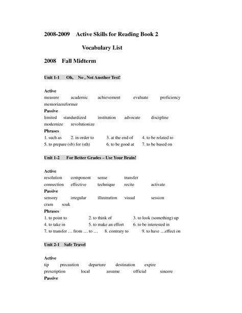 Active Reading Worksheets by 28 Active Reading Worksheets 11 Best Images Of