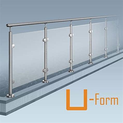 balkongel nder stahl bausatz glas pfosten gel 228 nder u form 2x90 176 ecke bausatz diy