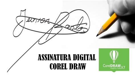 tutorial corel draw ppt fazer assinatura archives aisrafa design