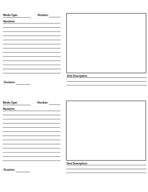 script storyboard template blank script template displaying 17 images for