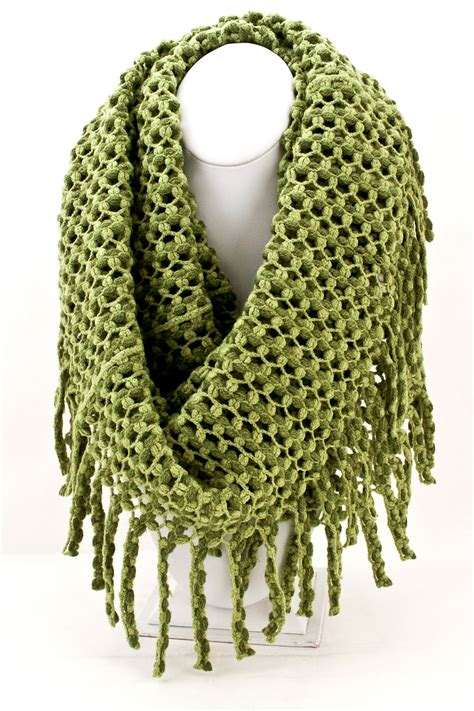 fringe knitting knitted fringe infinity scarf scarves