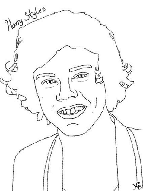 harry styles one direction free colouring pages