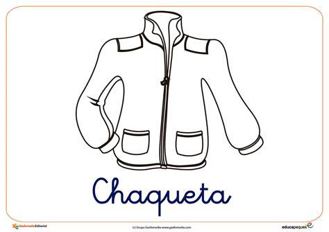 imagenes de ropa en ingles para colorear chaqueta ficha ropa invierno colorear