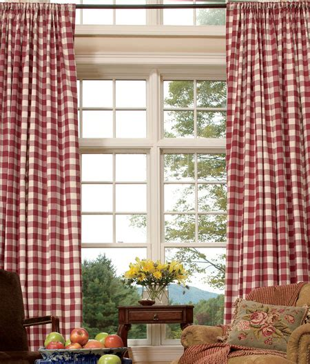 red check curtains affordable buffalo check curtains