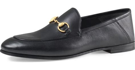 gucci brixton leather horsebit loafer in black for lyst