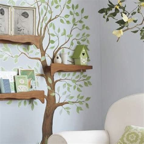 tree branch shelves tones of home
