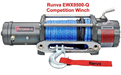 Runva High Speed Winch Ewx 9500 Q 3 With Synthetic Rope 43ton runva winch ewx 9500 q competition 8 6hp fast spd dyneema