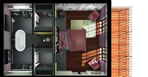 chambre avec salle de bain et dressing