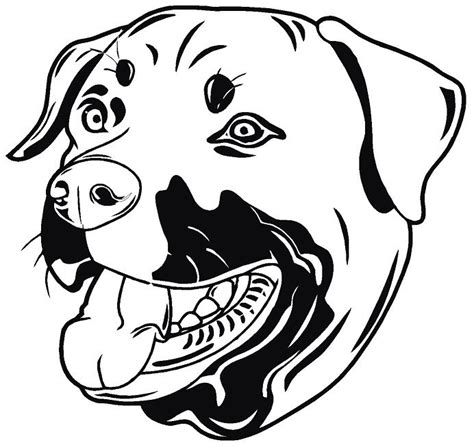 rottweiler decals the gallery for gt easy rottweiler drawing