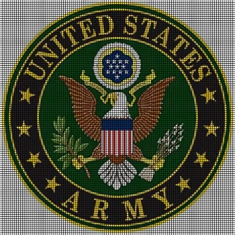 crochet pattern for army afghan us army crochet pattern