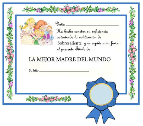 Diplomas Cristianos Dia De La Madre Para Imprimir | maestra de infantil diplomas para el d 237 a de la madre