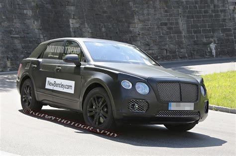 bentley suv 2014 spied bentley suv prototype w continental gt face