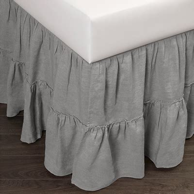 chambray bed linen caprice linen bed skirt grey chambray king