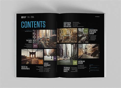 layout design for photography editorial design inspiration global cities report