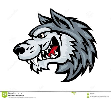angry wolf stock vector image 46031247