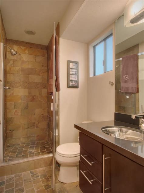 earth tone bathroom designs small bathroom features earth tone tile hgtv