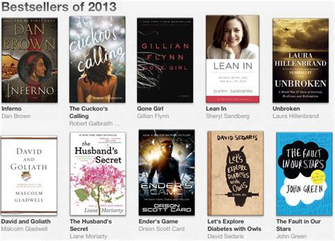 books best sellers 2013 apple announces their bestselling ibooks titles of 2013