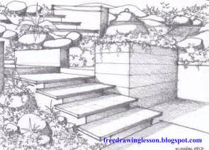 how to draw a garden learn to draw