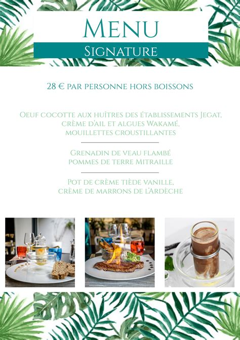 le patio vannes notre menu signature brasserie vannes hotel best