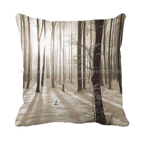 Pillows For Chairs by Nordic Style Snow Woods Print Custom Decorative Pillows Cushions For Sofa Chair Home Decor