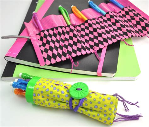 duct crafts for fabric and duct pencil roll family crafts