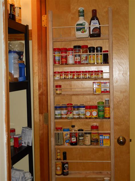 spice rack  pantry door projects completed