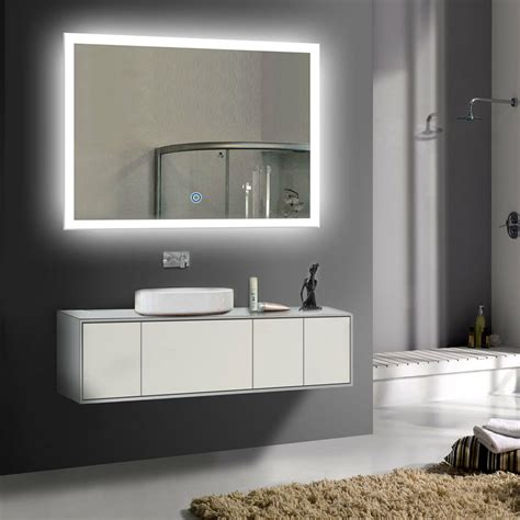 led bathroom wall mirror illuminated lighted vanity mirror  touch button ebay